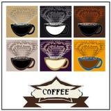 Абстрактный кофе предпосылки Иллюстрация штока