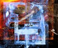 Абстрактный коллаж масла Стоковое фото RF