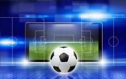 Абстрактный коллаж футбола Стоковое фото RF