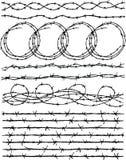 абстрактный колючий провод иллюстрации схематической конструкции Стоковое Изображение RF