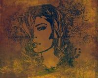 Абстрактный красивейший портрет женщины Стоковое Изображение RF