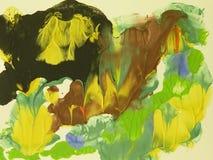 абстрактный красить цветов Стоковое Изображение