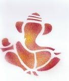 Абстрактный красный цвет бога Ganesha индийский Стоковая Фотография