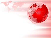 абстрактный красный цвет глобуса предпосылки Стоковая Фотография
