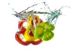 абстрактный красный цвет зеленого перца брызгая желтый цвет Стоковое Изображение