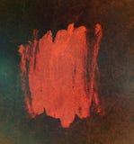 Абстрактный красный цвет краски на накаляя темной предпосылке Стоковая Фотография RF
