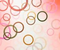 абстрактный красный цвет круга предпосылки Стоковая Фотография