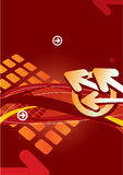 абстрактный красный цвет предпосылки стрелок Стоковые Фото