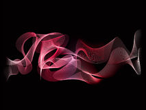 Абстрактный красный цвет предпосылки волны Стоковые Изображения