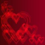абстрактный красный цвет сердца предпосылки Стоковое Фото