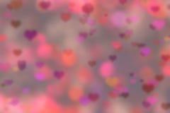 абстрактный красный цвет сердца предпосылки Стоковые Изображения