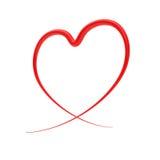 абстрактный красный цвет сердца Стоковое Изображение RF
