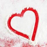 абстрактный красный цвет сердца Стоковые Фотографии RF