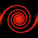 абстрактный красный цвет черноты предпосылки 3d Стоковые Изображения