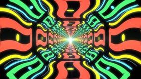 Абстрактный красочный бесконечный коридор идентичных элементов Стоковые Изображения RF