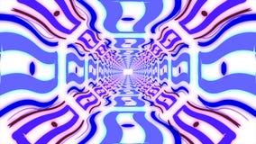 Абстрактный красочный бесконечный коридор идентичных элементов Стоковые Фотографии RF