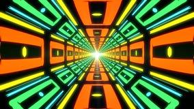 Абстрактный красочный бесконечный коридор идентичных элементов Стоковое Изображение