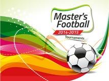 Абстрактный красочный вектор предпосылки футбола Стоковое Изображение