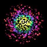 Абстрактный красочный закручивать атмосферы кубов Стоковые Изображения RF