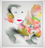 Абстрактный красочный дизайн вектора заголовка Стоковое Изображение