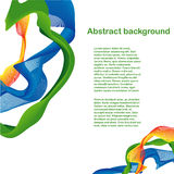 Абстрактный красочный дизайн волны Иллюстрация штока