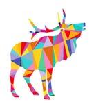 Абстрактный красочный северный олень бесплатная иллюстрация