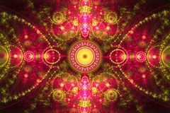 Абстрактный красочный состав фрактали Волшебная звезда взрыва с частицами Иллюстрация движения Красивейшая предпосылка Стоковое Изображение RF