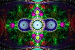 Абстрактный красочный состав фрактали Волшебная звезда взрыва с частицами Иллюстрация движения Красивейшая предпосылка Стоковая Фотография RF