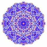 Абстрактный красочный фон круга Знамя мозаики круглое Стоковые Изображения