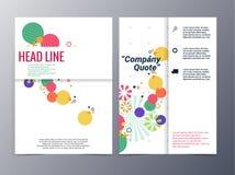 Абстрактный красочный флористический шаблон дизайна брошюры картины формы Стоковые Фото