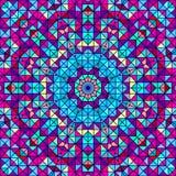 Абстрактный красочный цветок цифров декоративный Стоковая Фотография