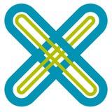 Абстрактный крест, форма x, символ письма с пересекать выравнивает w бесплатная иллюстрация
