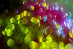 Абстрактный круговой взгляд предпосылки bokeh красочных светов рождества стоковое фото rf