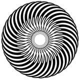 Абстрактный круговой элемент, радиальные линии форма геометрический элемент Стоковая Фотография