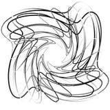 Абстрактный круговой элемент с случайными формами Monochrome geometr Стоковые Фотографии RF