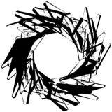 Абстрактный круговой элемент с случайными формами Monochrome geometr Стоковые Изображения RF
