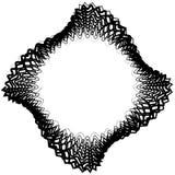 Абстрактный круговой элемент с случайными формами Monochrome geometr Стоковое фото RF