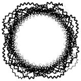Абстрактный круговой элемент с случайными формами Monochrome geometr Стоковая Фотография