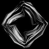 Абстрактный круговой элемент Monochrome геометрическая иллюстрация внутри Стоковое фото RF