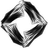 Абстрактный круговой элемент Monochrome геометрическая иллюстрация внутри Стоковые Изображения RF