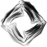 Абстрактный круговой элемент Monochrome геометрическая иллюстрация внутри Стоковые Фото