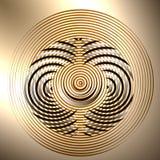 Абстрактный круг на фоне градиента Стоковое Фото