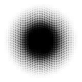 Абстрактный круг полутонового изображения точек в волнистом расположении Черно-белый элемент иллюстрации вектора иллюстрация штока