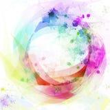 абстрактный круг предпосылки цветастый иллюстрация вектора