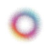 абстрактный круг предпосылки ставит точки картина halftone Стоковые Изображения