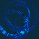 абстрактный круг сини предпосылки Стоковая Фотография RF