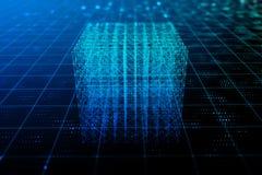 абстрактный кубик предпосылки 3d cubes цифровое Бесплатная Иллюстрация