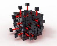 абстрактный кубик Стоковое Фото