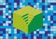 абстрактный кубик 3d Стоковые Изображения