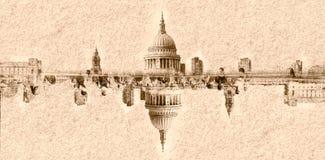 Абстрактный купол зрения собора Лондона St Pauls Стоковое фото RF